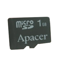- Apacer Micro SecureDigital card 1GB
