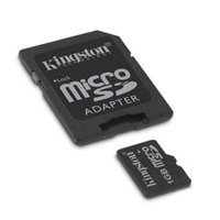 - KINGSTON MicroSD Card 1GB + adapter